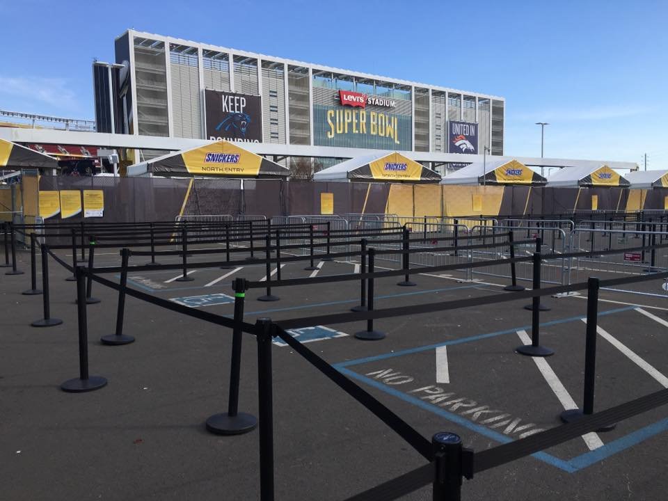 Crowd Control Stanchions at the Super Bowl